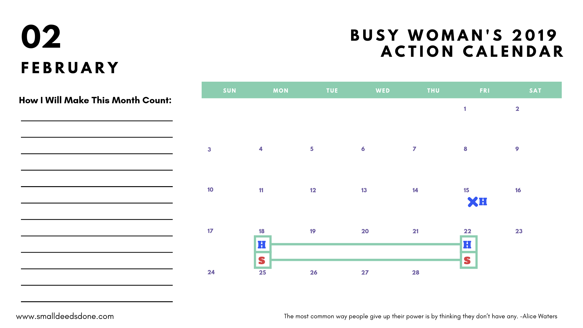 Busy Woman Guide
